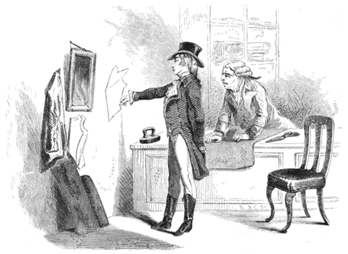 Beau Brummell and His Tailor