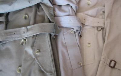 Tre tipi di tasca del trench